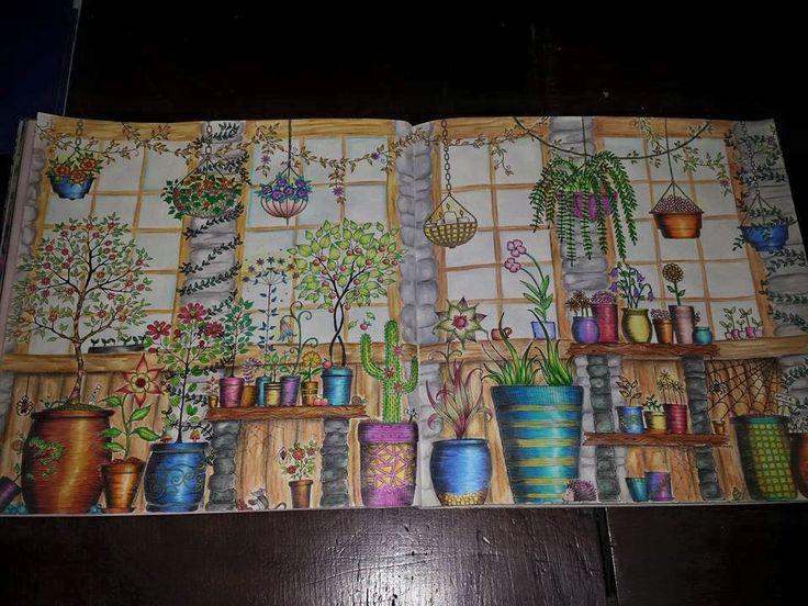 Vasos Com Flores Jardim Secreto Secret Garden ColouringJohanna