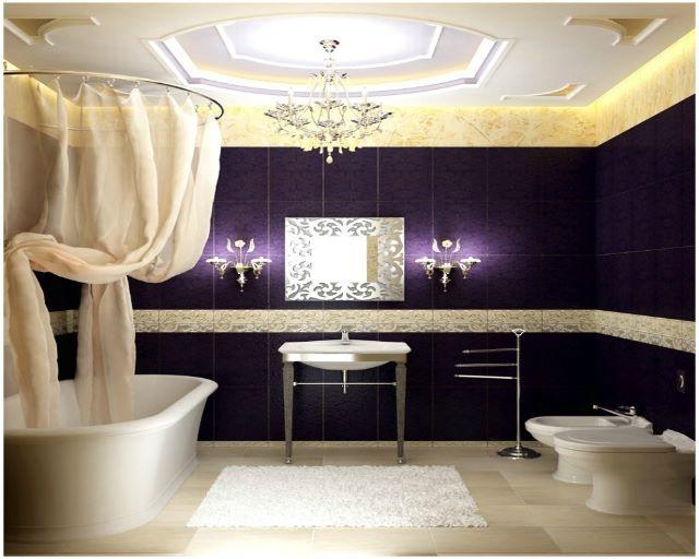 Violet Bathroom  Salle de Bain  Pinterest