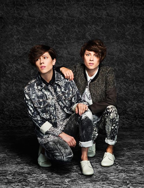 Tegan and Sara. Love the outfits!