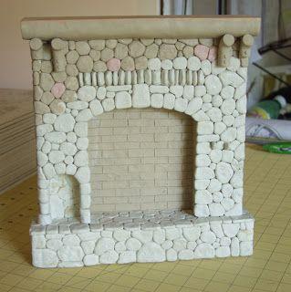 Bella! Studio, Life in Miniature: Log Cabin Fireplace Mold Making