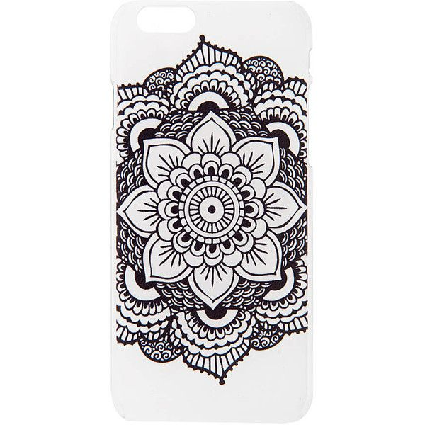 Mandala Pattern Cover for iPhone 6 and 6s | Claire's ($9.50) ❤ liked on Polyvore featuring accessories, tech accessories and claire's