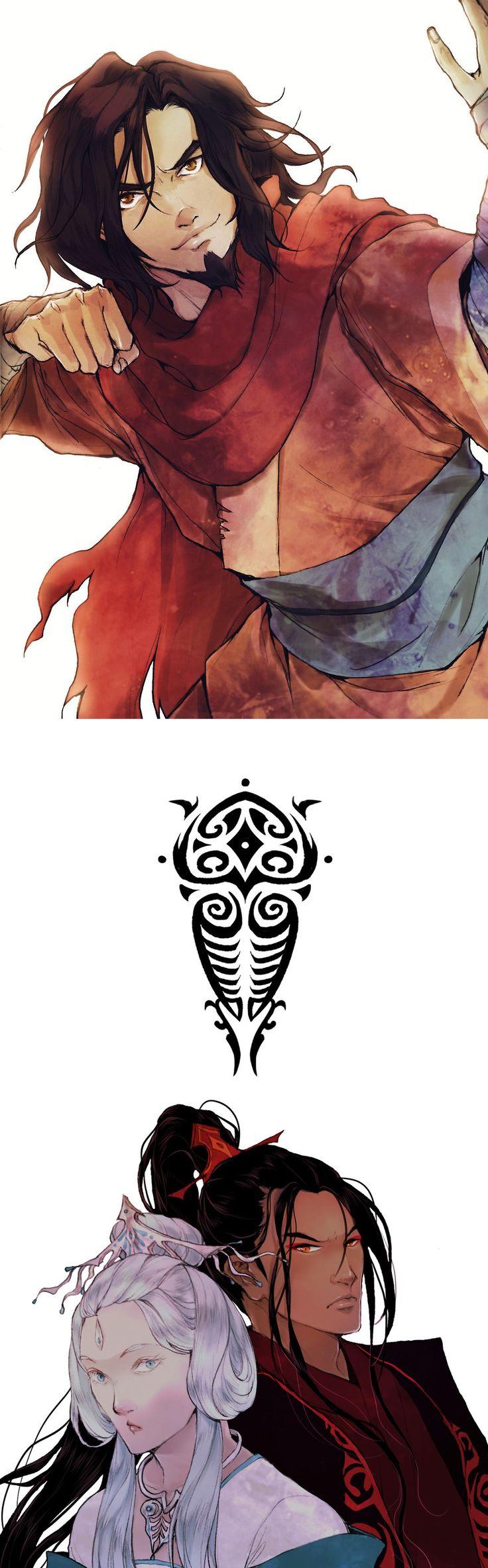 Legend of Korra - Avatar Wan, Raava & Vaatu in human form