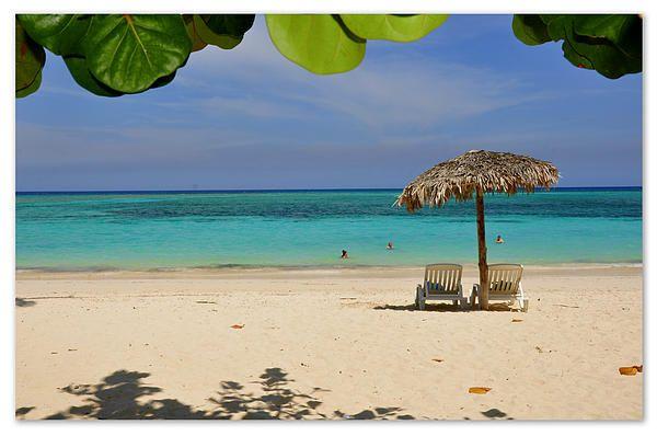 Beautiful sunny beach at Guardalavaca on the NE coast of Cuba