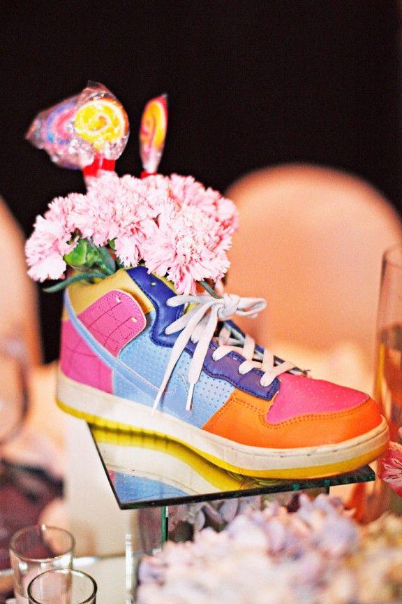 Tennis Shoe Centerpieces