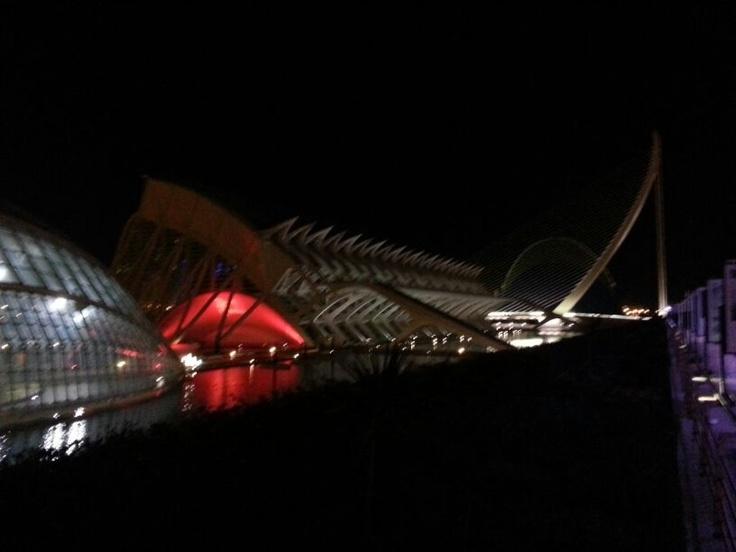 Ciudad de las artes y las ciencias . Santiago Calatrava . Valencia