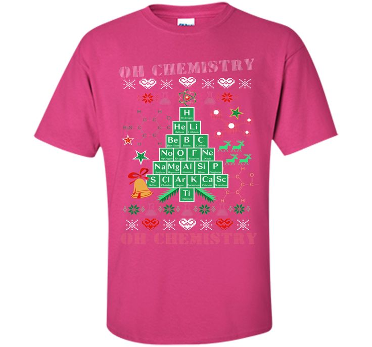 Oh Chemistree Chemistry Funny Ugly Christmas Sweater T-Shirt