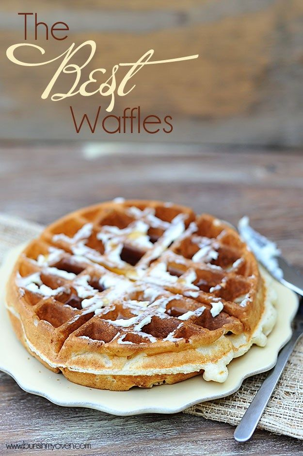 light and crispy waffle recipe - this recipe is super yummy!  Of course, I used butter in place of the oil (and since it was Kerry Gold salted butter, I omitted the salt).  Yum! Most delicious topped with butter, then fruit or jam, plus a dollop of fresh whipped cream~  Or maple syrup <3