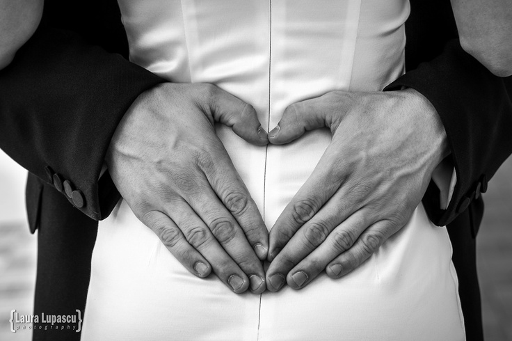 Laura Lupascu {photography}: Photo, Heart shape hands, bride and groom, black and white