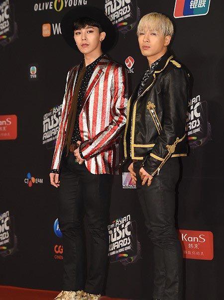 Terakhir adalah K-Pop Star GD & Taeyang.  Walaupun pendek, GD & Taeyang menutupi kekurangan mereka dengan gaya unik! Gaya mereka di 2014 MAMA Awards kali ini mendapat banyak pujian.    Posting kali ini tentang gaya para K-Pop Star dan K-Drama Star di 2014 MAMA Awards sampai disini saja ~^^ Menarik tidak? Sebagai penutup , inilah video musik K-Pop Idol Group Big Bang GD&Taeyang 'Good Boy'~!