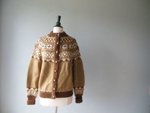 Fair Isle Cardigan // 60s Fair Isle Sweater // by RockThatFrock