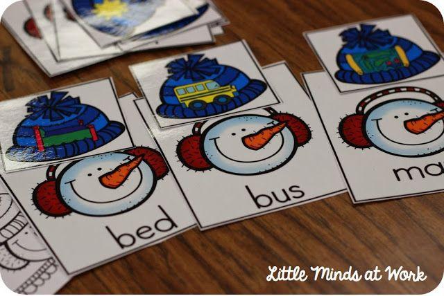 CVC match ups! Winter Literacy Centers