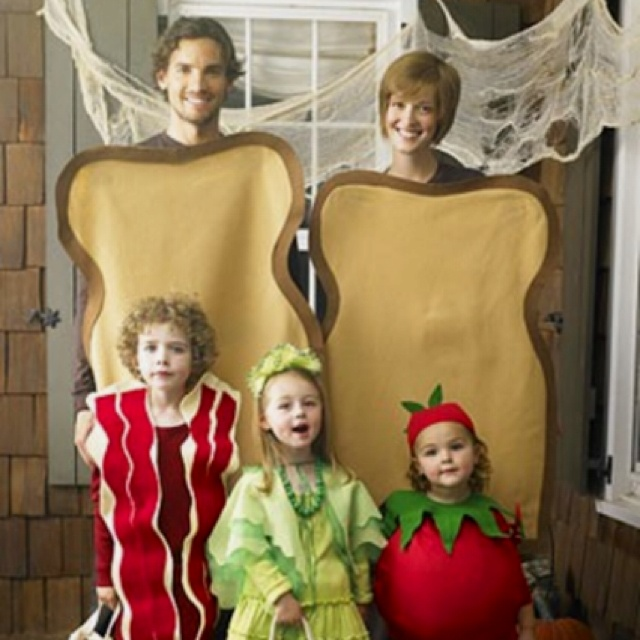 blt family halloween costume i would seriously consider having another child to complete - Halloween Costumes For Parents And Baby
