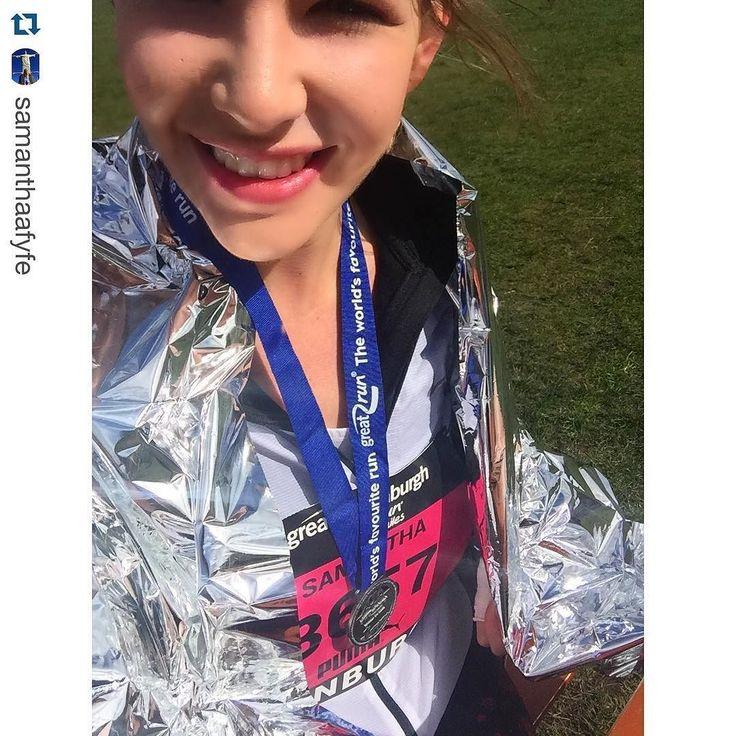 RUN #GreatEdinburghRun #medalmonday  Repost @samanthaafyfe  #InstaRunners  Great Edinburgh Run Completed  10 miles beat my target but not my personal best still a perfect morning!! I love the Great Run Series 3/12  #Brooks #Nike by instarunners