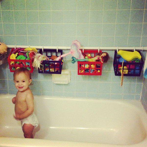 bath toy storage solution,