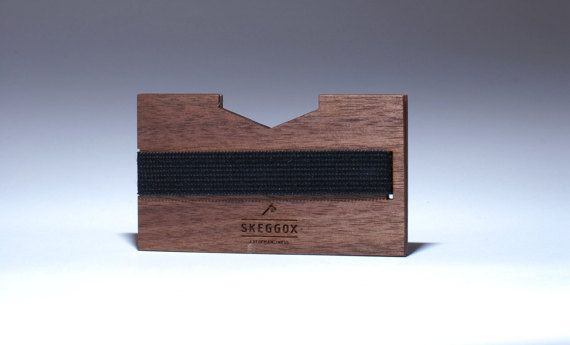 Handmade WOODEN wallet / money clip modern wallet slim by SKEGGOX