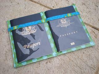 craftaholic: Porta-passaporte passo a passo