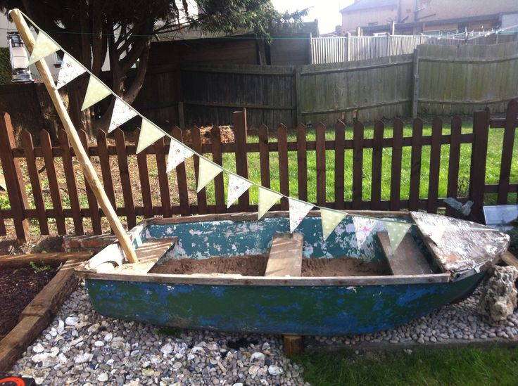 Wooden Row Boat Sandpit 3