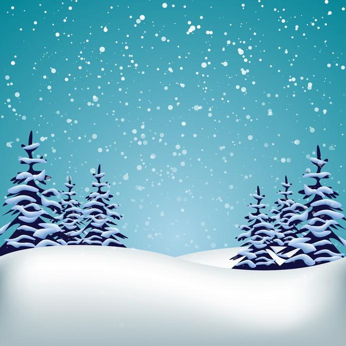 Шаблоны к новому году зимний сказочный лес