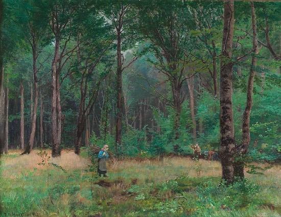 Nils Hansteen (Norwegian, 1855-1912): Dansk bøkeskog 1891