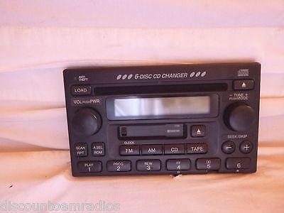 03-06 Honda CR-V 6 Cd Cass Face Plate 39100-S9A-A200 1TN0 CH63037