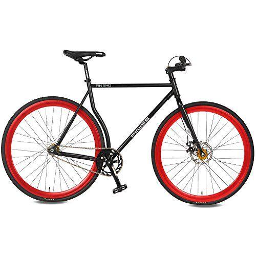 Merax Classic Fixed Gear Bike Single Speed Road Bike with...