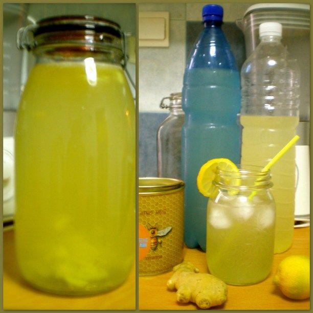 Refreshing Ginger-Lemonade w/Raw Honey Tea for Weight Control/Cleanse & Detox