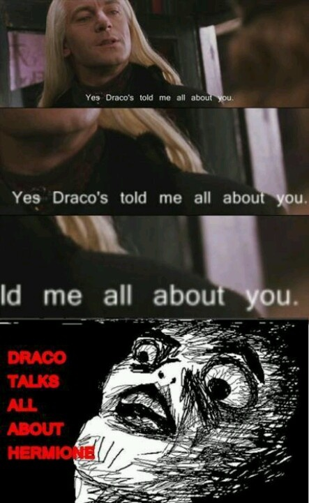 Maybe Dramione shippers are on to something and AVPM actually hit on the truth of Draco's existence.