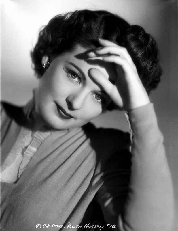 Ruth Hussey Black and White Portrait High Quality Photo – Movie Star News