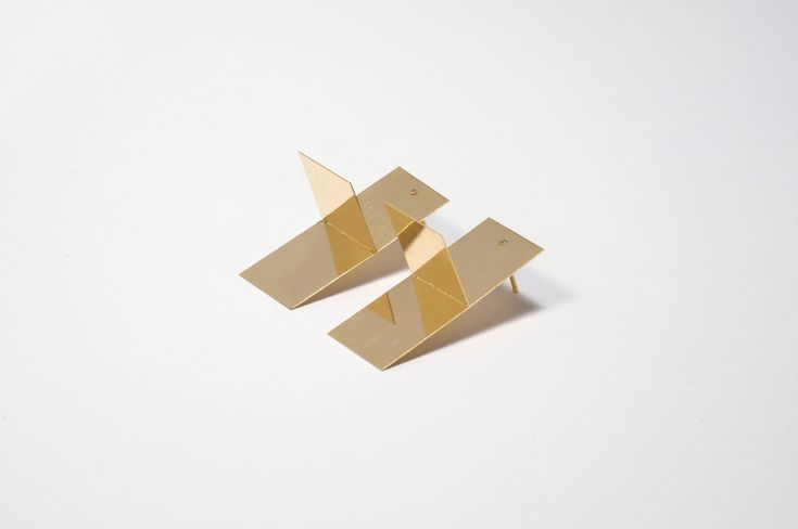 Marc Monzó Earrings: Blank, 2015 18 kt gold 35 x 15 mm