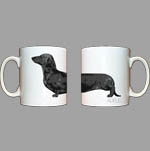 his and her doxie lover mugs. available on Adele's website.  Have to get these!