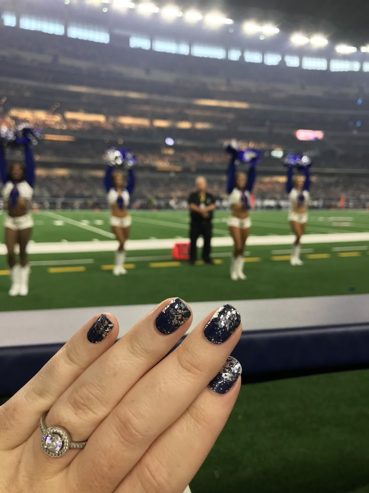 Lisbon Nights The Perfect Color Street Manicure For A Dallas Cowboys Game Watched From A Field