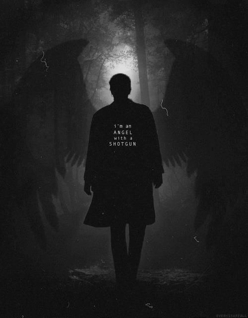 Castiel - I'm an angel with a shotgun - That song fits him so perfectly i can't even  - Supernatural