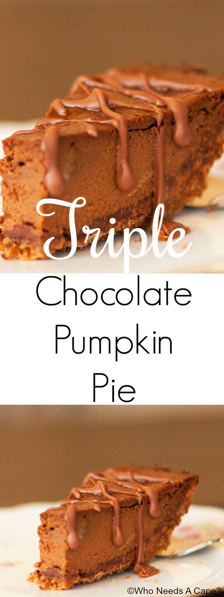 This Triple Chocolate Pumpkin Pie is beyond delicious! You'll love the ...