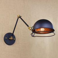 Style Loft American Industrial créative fer Vintage Wall Light avec deux balançoire mécanique bras balcon applique murale livraison gratuite