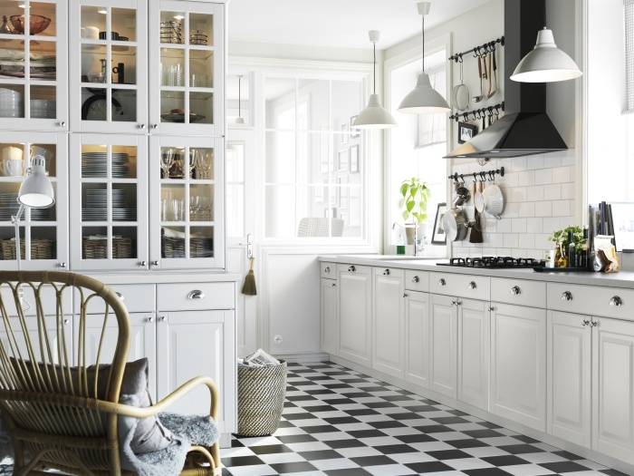 White Ikea Kitchen Black Floor Home Decorating Trends Homedit