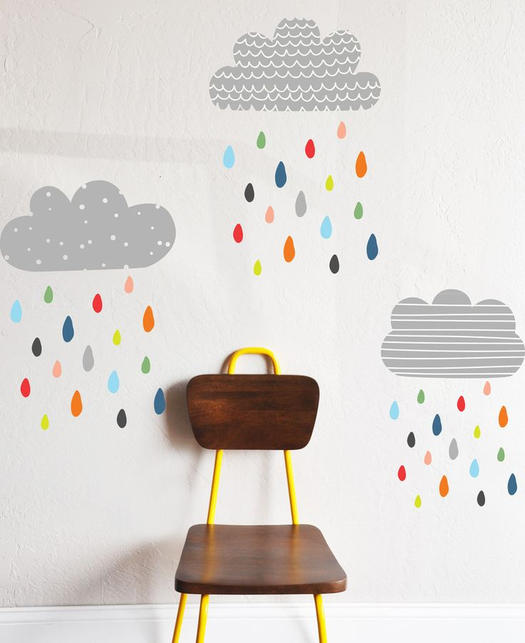 Colorful Rains - WALL DECAL | The Lovely Wall Company