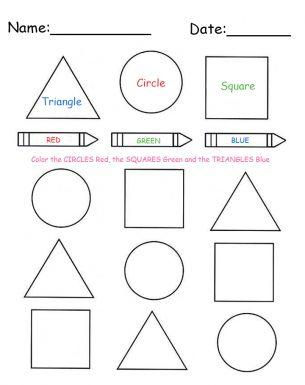 printable color and shapes lesson worksheet free printable worksheets kindergarten. Black Bedroom Furniture Sets. Home Design Ideas