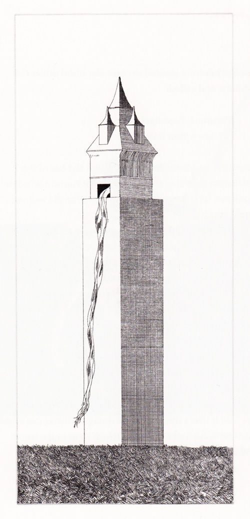 'The tower had one window' (Rapunzel)  David Hockney Illustrates the Fairy Tales of the Brothers Grimm | Brain Pickings