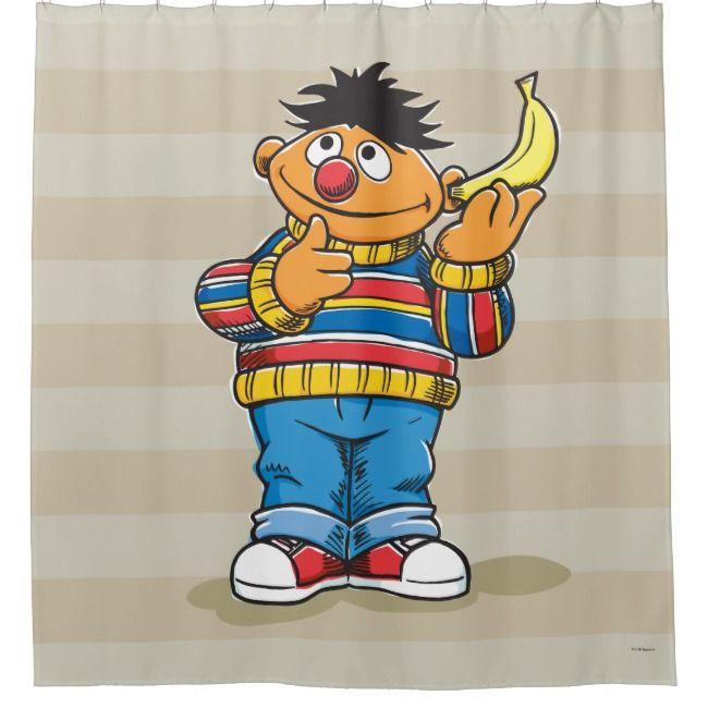 Ernie S Bananas Shower Curtain Zazzle Com Custom Shower