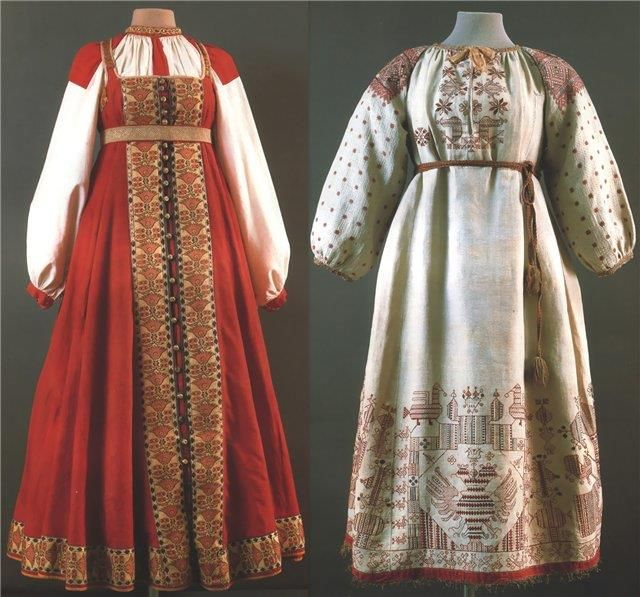 Русско народный костюм тверской губернии 19века