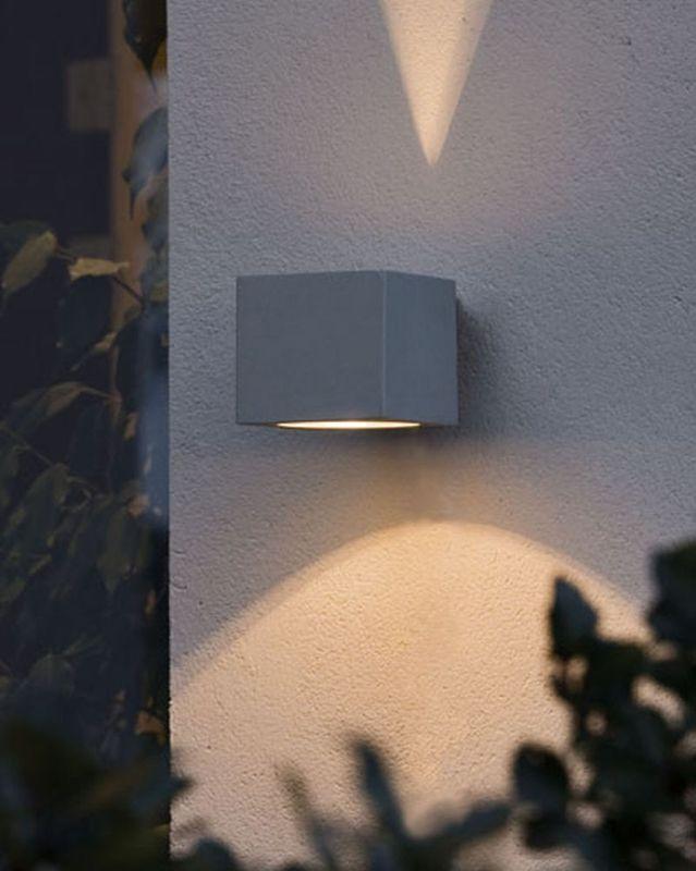 Konstsmide Modena Grå Square Vägglampa