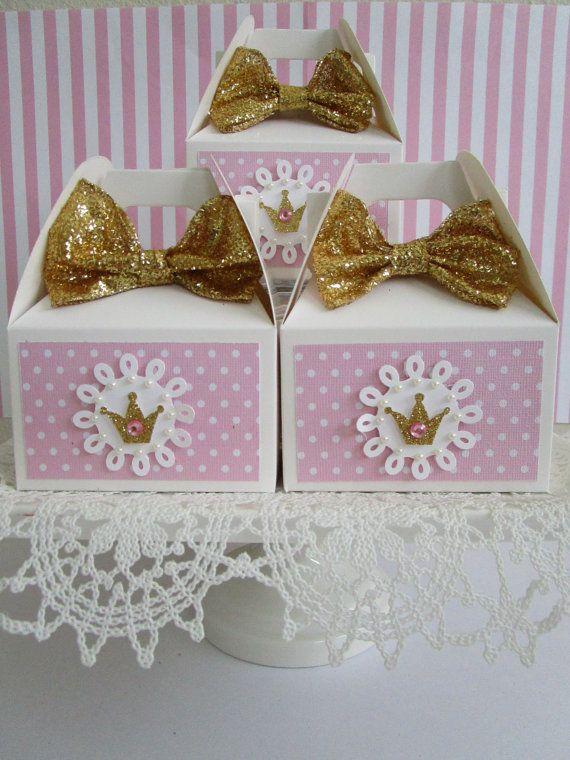 Cajas del Favor de la princesa Favor cajas cotillón por ByAdalynn