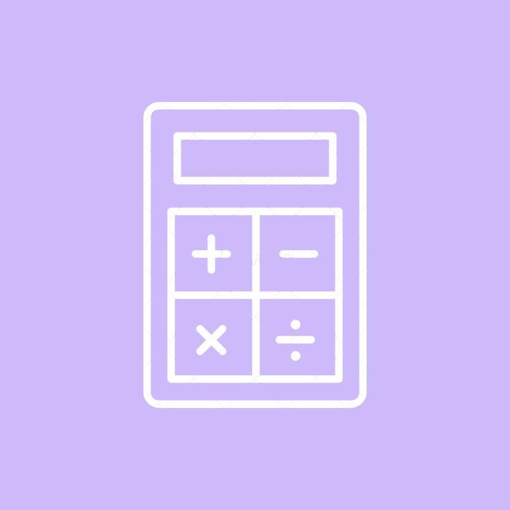 Calculator Icon in 2020 | Purple wallpaper iphone, Iphone ...