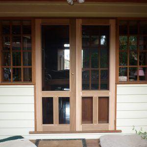Wooden Fly Screen Door Designs