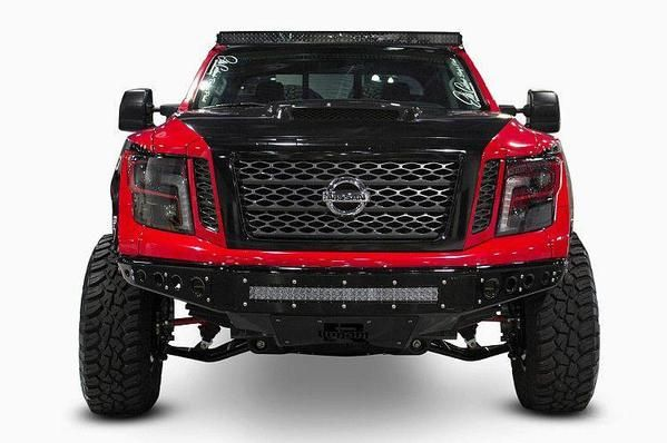ADD 2016-2017 Nissan Titan Venom R Front Bumper With Light Mount, Must Have Offroad Truck Accessory
