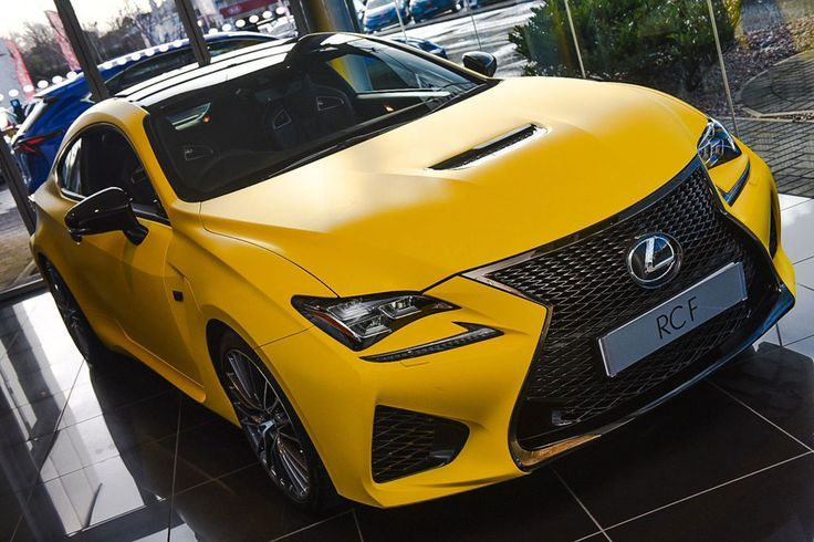 A UK Lexus dealership has wrapped the new #Lexus RC F coupe in matte yellow.