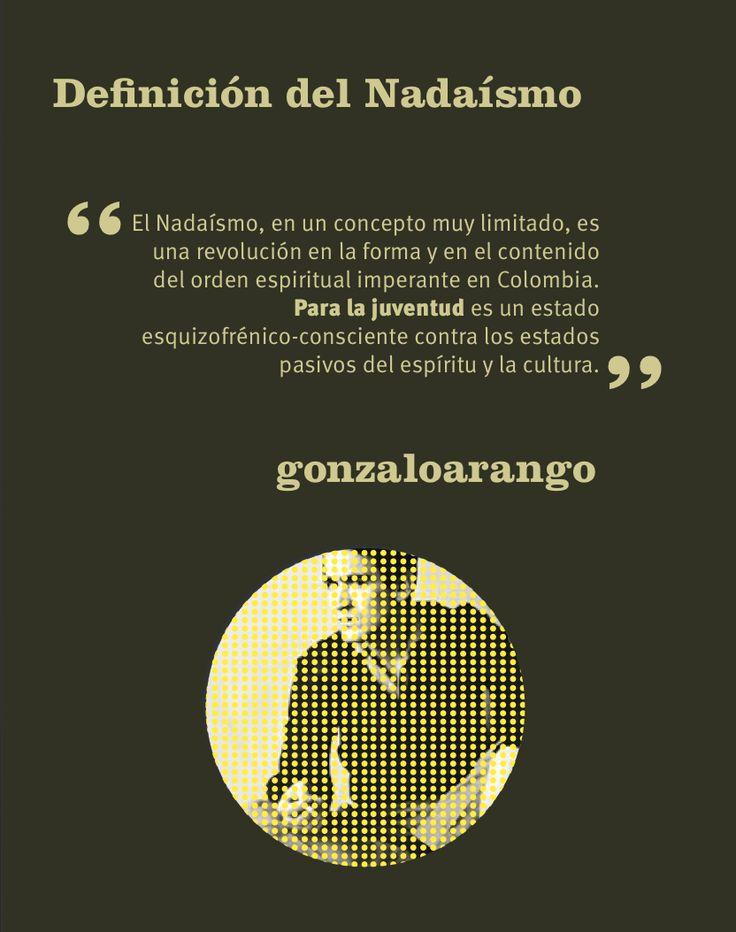 """""""El Nadaísmo, es un concepto muy limitado, es una revolución en la forma y en el contenido del orden espiritual imperante en Colombia. Para la juventud es un estado esquizofrénico consciente contra los estados pasivos del espíritu y la cultura"""" cita de Gonzalo Arango.  ¿Sabes cuál es la historia de los jóvenes en Colombia? Esta imagen hace parte del fanzine 'Historias de Medellín: una ciudad siempre joven'."""
