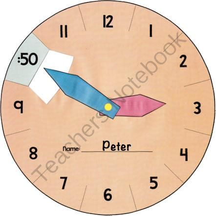 Interactive Learning Clock - Telling Time to 5 Minutes from Mr. Teacher in Canada on TeachersNotebook.com -  (7 pages)  - Students can master the skills to tell time to 5 minutes easily, using this interactive learning clock! This template lets each student create a great manipulative which makes your students really engaged.