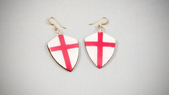 #handmade #heraldic #england #earrings #thesilverlance #etsy