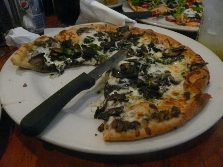California Pizza Kitchen on Orchard Road, Singapore. A mushroom pizza. October 2011
